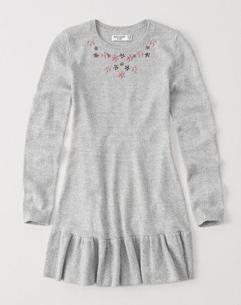 kids embellished sweater dress