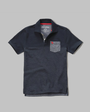 kids contrast oxford polo