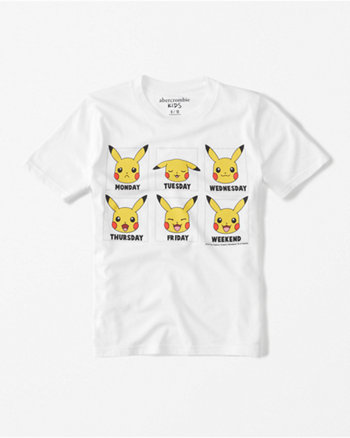 kids pokemon graphic tee