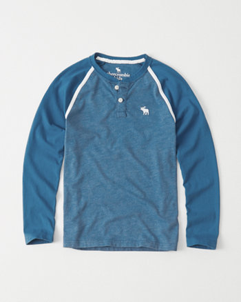 kids long-sleeve henley