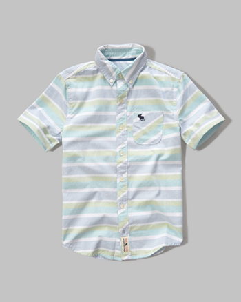 kids short sleeve iconic patterned shirt