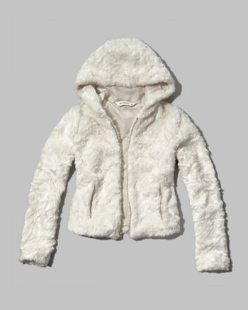 kids soft faux fur coat