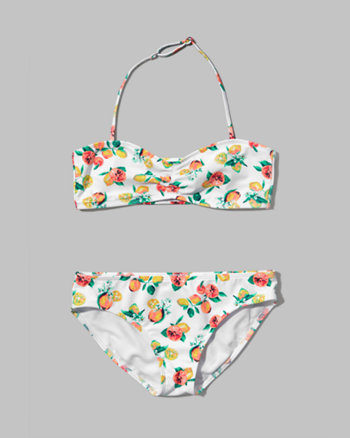 kids strappy bandeau two-piece swimsuit