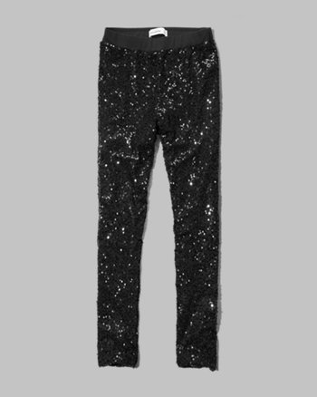 kids shimmering sequin leggings