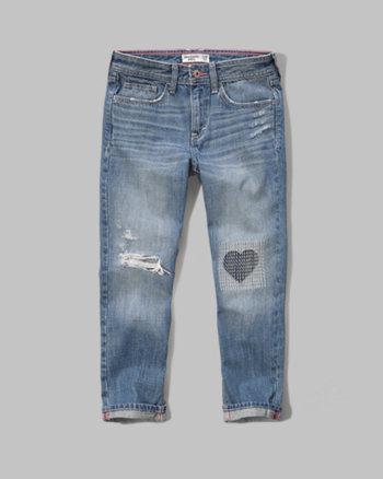 kids a&f girlfriend jeans