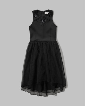 kids embellished mesh dress