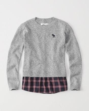kids twofer pullover sweater