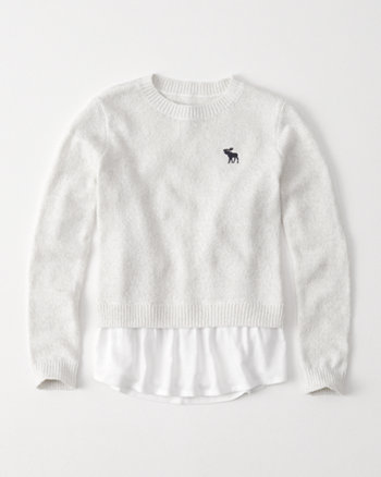 kids twofer pullover sweater