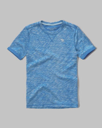 kids textured knit crew tee