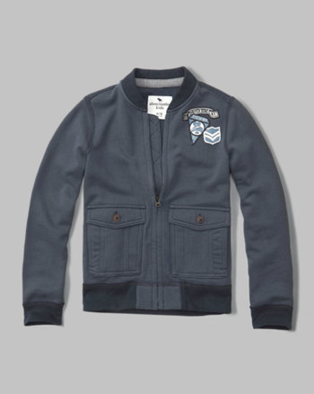 kids flight full-zip sweatshirt