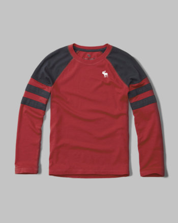 kids raglan long-sleeve tee