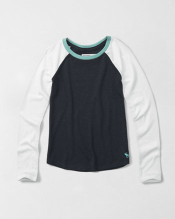 kids long-sleeve baseball tee