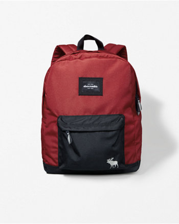kids small nylon logo backpack