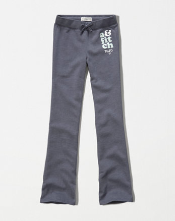 kids a&f shine logo flare sweatpants