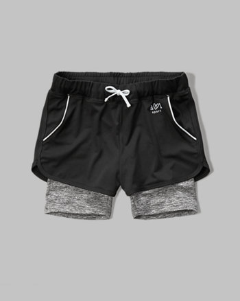 kids a&f sport layered shorts
