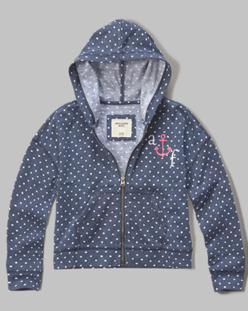 kids drapey logo hoodie
