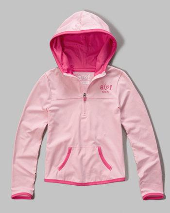 kids a&f sport half zip pullover