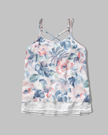 kids tiered strappy cami