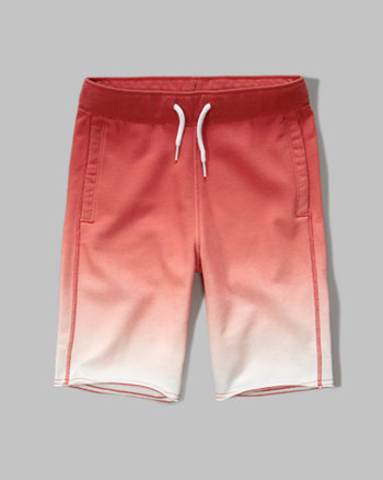 kids dip-dyed fleece shorts