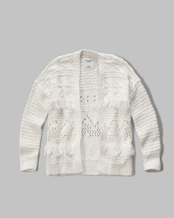 kids textured knit cardigan