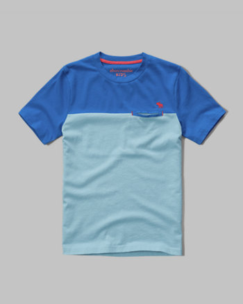kids colorblock pocket tee