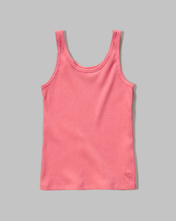 kids slim ribbed tank