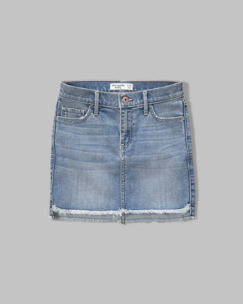 kids distressed denim skirt