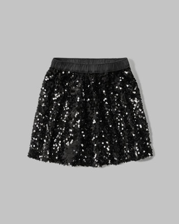 kids sequin skater skirt