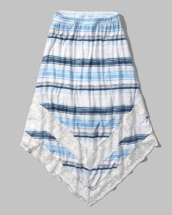 kids lace panel maxi skirt