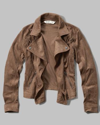 kids faux suede biker jacket