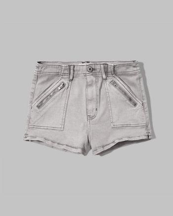kids a&f high rise military shorts
