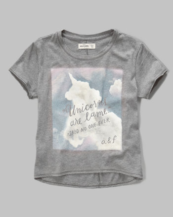 kids drapey graphic tee