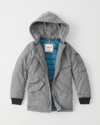 kids longline bomber jacket