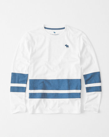 kids double stripe long-sleeve tee