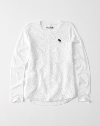 kids long-sleeve lace tee