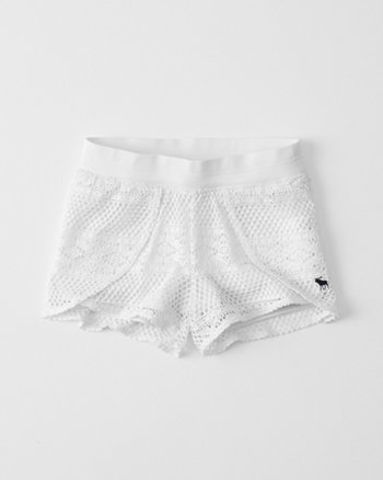kids pool to playground lace tulip shorts