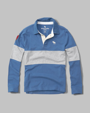 kids long-sleeve rugby polo
