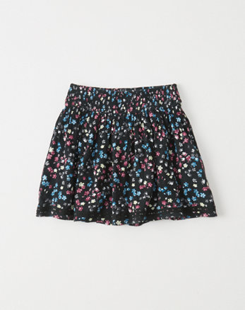 kids smocked waist skirt