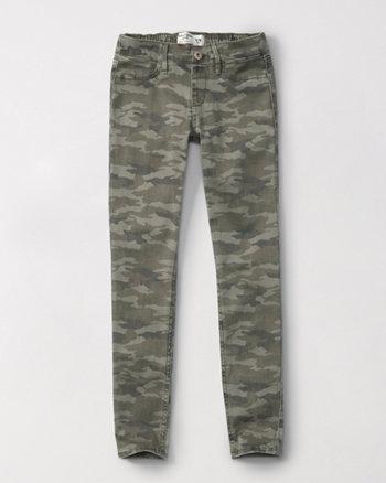 kids pull-on jean leggings