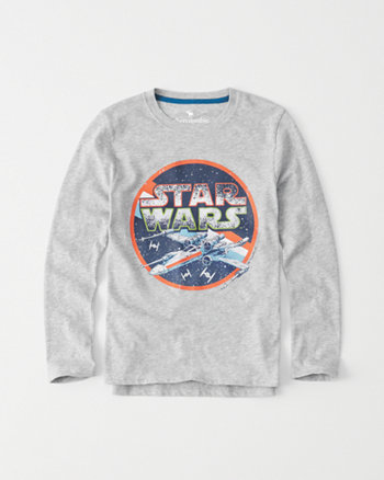 kids long-sleeve star wars graphic tee