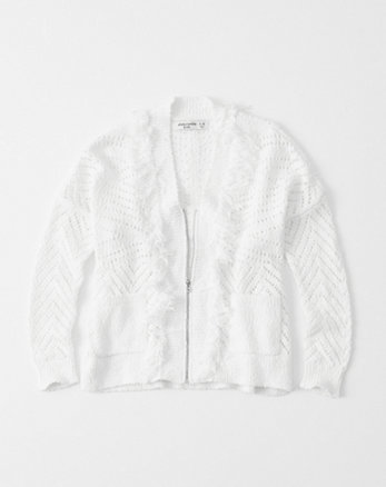 kids Fringe Full-Zip Cardigan