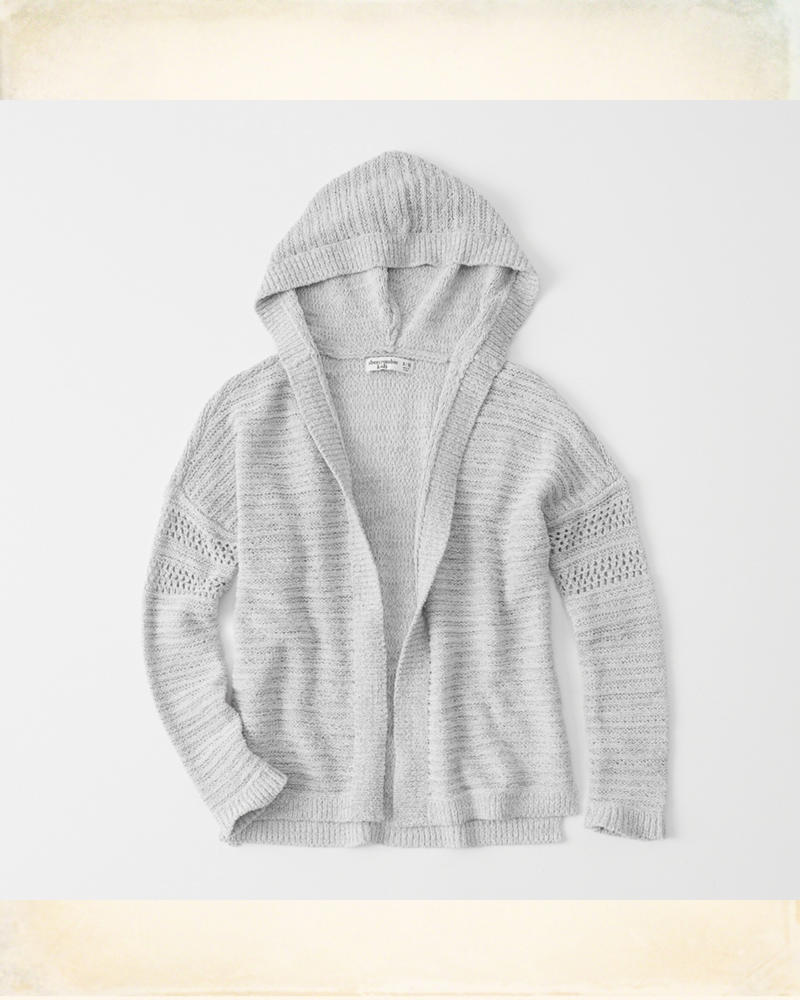 168c50ee2877 Hooded Cardigan
