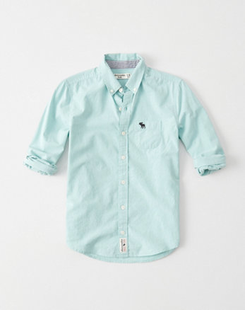 kids long sleeve poplin shirt