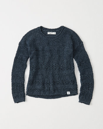 kids Open Stitch Sweater