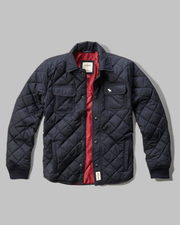 kids diamond quilted shirt jacket