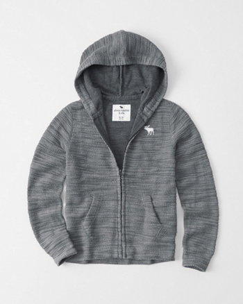 kids Icon Boucle Full-Zip Hoodie