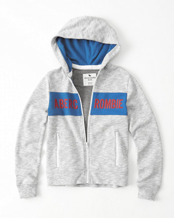 kids Logo Graphic Full-Zip Hoodie