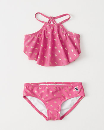 kids High Neck Two-Piece Bikini