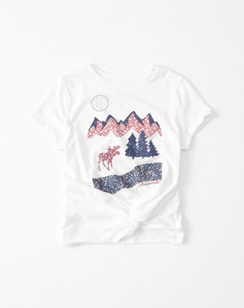 kids Knot Front Graphic Tee
