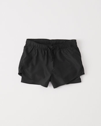 kids active nylon twofer shorts